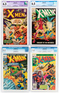 Silver Age (1956-1969):Superhero, X-Men CGC-Graded Group of 4 (Marvel, 1965-77).... (Total: 4 )