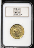 Indian Eagles: , 1913 $10 MS60 NGC....
