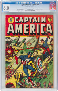 Captain America Comics #47 (Timely, 1945) CGC FN 6.0 Cream to off-white pages