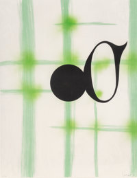 Jed Garrett (20th century) Untitled, 1988 Lithograph in colors on paper 40-1/2 x 31-1/2 inches (1