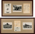 "Military & Patriotic:WWII, Remarkable Collection of Signed Photos and Artifacts of the Legendary ""Flying Tigers"".. ... (Total: 5 )"