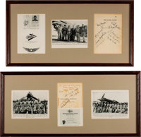 "Remarkable Collection of Signed Photos and Artifacts of the Legendary ""Flying Tigers"". ... (Total: 9 Items)"