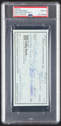 Autographs:Checks, 1981 Joe DiMaggio Signed Check, PSA/DNA Mint 9....