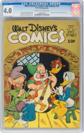 Golden Age (1938-1955):Cartoon Character, Walt Disney's Comics and Stories #45 (Dell, 1944) CGC VG 4.0 Cream to off-white pages....