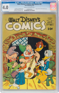 Walt Disney's Comics and Stories #45 (Dell, 1944) CGC VG 4.0 Cream to off-white pages
