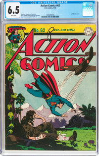 Action Comics #62 (DC, 1943) CGC FN+ 6.5 White pages