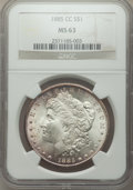 1885-CC $1 MS63 NGC. NGC Census: (3212/6361). PCGS Population: (6052/14296). CDN: $575 Whsle. Bid for problem-free NGC/P...