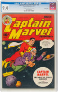Golden Age (1938-1955):Superhero, Captain Marvel Adventures #44 Crowley Copy Pedigree (Fawcett Publications, 1945) CGC NM 9.4 Cream to off-white pages....