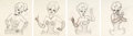 """Animation Art:Production Drawing, Swing Shift Cinderella """"Red Hot"""" Animation Drawings Sequence of 10 (MGM, 1945).... (Total: 10 Original Art)"""