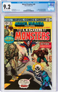 Bronze Age (1970-1979):Superhero, Marvel Premiere #28 Legion of Monsters (Marvel, 1976) CGC NM- 9.2 Off-white to white pages....