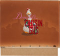 Animation Art:Production Cel, Donald's Cousin Gus Title Card/Cel with Key Master Background (Walt Disney, 1939)....