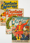 Golden Age (1938-1955):Superhero, Captain Marvel Adventures #41-43 Group (Fawcett Publications, 1944-45).... (Total: 3 Comic Books)
