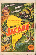 """Movie Posters:Documentary, Jacaré, Killer of the Amazon (United Artists, 1942). Folded, Fine-. One Sheet (27"""" X 41"""") & Lobby Cards (6) (11"""" X 14""""). Doc... (Total: 7 Items)"""