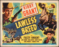 """Movie Posters:Western, Lawless Breed & Other Lot (Universal, 1946). Folded, Fine. Half Sheets (2) (22"""" X 28""""). Western.. ... (Total: 2 Items)"""