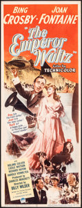 "Movie Posters:Musical, The Emperor Waltz (Paramount, 1948). Folded, Fine/Very Fine. Insert (14"" X 36""). Musical.. ..."