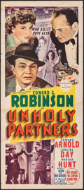 "Movie Posters:Crime, Unholy Partners (MGM, 1941). Folded, Very Good/Fine. Australian Daybill (13.25"" X 30""). Crime.. ..."
