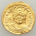 Ancients:Byzantine, Ancients: Maurice Tiberius (AD 582-602). AV solidus (22mm, 3.50 gm, 6h). AU, edge filed....