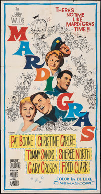 "Mardi Gras & Other Lot (20th Century Fox, 1958). Folded, Overall: Very Fine-. Three Sheet (41"" X 78.25""..."