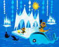 "Animation Art:Concept Art, Mary Blair ""It's a Small World"" Arctic Concept Painting (Walt Disney, 1964/66). ..."