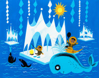 "Mary Blair ""It's a Small World"" Arctic Concept Painting (Walt Disney, 1964/66)"