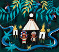 "Animation Art:Concept Art, Mary Blair ""It's a Small World"" Mexico Concept Painting (Walt Disney, 1964/66). ..."