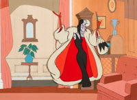 101 Dalmatians Cruella De Vil Production Cel (Walt Disney, 1961)