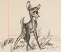 Animation Art:Concept Art, Bambi Concept Drawing by Clair Weeks (Walt Disney, 1942)....