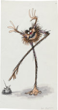 Animation Art:Concept Art, Tim Burton The Black Cauldron Gurgi Concept Art (Walt Disney, 1985). ...