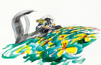 """""""The Art of Chuck Jones"""" Pepé Le Pew Original Signed Watercolor Painting (Warner Brothers, undated)"""
