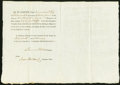 Miscellaneous:Other, Portsmouth, NH- New Hampshire Turnpike Road Stock Certificate 1 Share Feb. 19, 1801 Very Fine.. ...