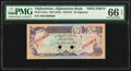 Afghanistan Afghanistan Bank 20 Afghanis ND (1978) / SH1357 Pick 53As Specimen PMG Gem Uncirculated 66 EPQ