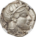 Ancients:Greek, ATTICA. Athens. Ca. 465-455 BC. AR tetradrachm (25mm, 17.1...