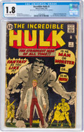 Silver Age (1956-1969):Superhero, The Incredible Hulk #1 (Marvel, 1962) CGC GD- 1.8 Off-white to white pages....