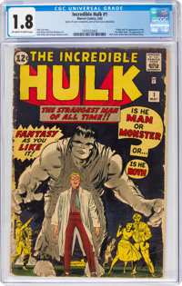 The Incredible Hulk #1 (Marvel, 1962) CGC GD- 1.8 Off-white to white pages