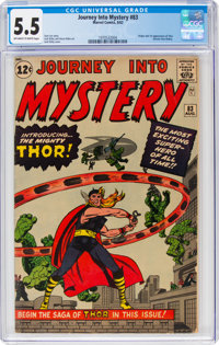 Journey Into Mystery #83 (Marvel, 1962) CGC FN- 5.5 Off-white to white pages