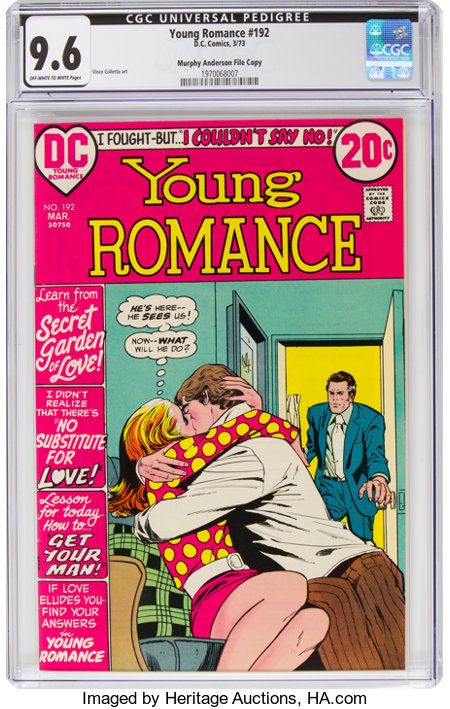 Young Romance #192 Murphy Anderson File Copy Pedigree (DC, 1973) CGC NM+ 9.6 Off-white to white pages....