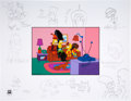 """Animation Art:Production Drawing, The Simpsons """"The Director's Edition III - Treehouse of Horror"""" Limited Edition Print with Original Sketches AP #8/20 ... (Total: 2 Items)"""