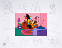 "The Simpsons ""The Director's Edition III - Treehouse of Horror"" Limited Edition Print with Original Sketches A..."