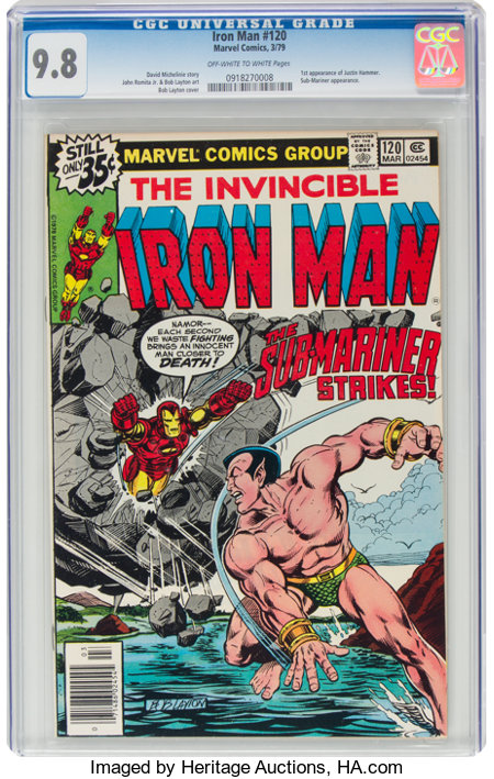 Iron Man #120 (Marvel, 1979) CGC NM/MT 9.8 Off-white to white pages....
