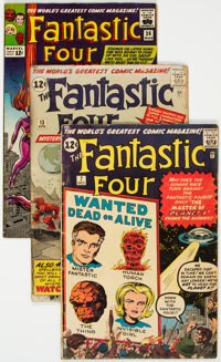 Fantastic Four #7, 13, and 36 Group (Marvel, 1962-65) Condition: Average FR.... (Total: 3 Comic Books)