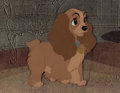 Animation Art:Production Cel, Lady and the Tramp Lady Production Cel (Walt Disney, 1955). ...