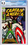 Silver Age (1956-1969):Superhero, Captain America #117 (Marvel, 1969) CGC NM- 9.2 White pages....