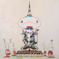 Prints & Multiples, Takashi Murakami (b. 1962). Reversed Double Helix Mega Power, 2005. Offset lithograph in colors on satin white paper. 28...
