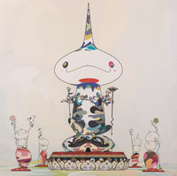 Takashi Murakami (b. 1962) Reversed Double Helix Mega Power, 2005 Offset lithograph in colors on sat