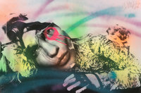 DAIN (20th century) Untitled, early 21st century Screenprint with hand coloring on paper 24 x 36