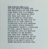 Jenny Holzer (b. 1950) The End of the USA, from Inflammatory Essays, 1982 Offset lithogra