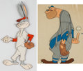Animation Art:Production Cel, Baseball Bugs Bugs Bunny and Gas House Gorilla Production Cels Group of 2 (Warner Brothers, 1946). ... (Total: 2 Original Art)