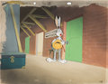 Animation Art:Production Cel, Stage Door Cartoon Bugs Bunny Production Cel on Master Production Background (Warner Brothers, 1944). ...