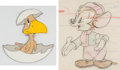 Animation Art:Color Model, Lost and Foundling Sniffles Color Model Drawing with Production Cel Group of 2 (Warner Brothers, 1944). ... (Total: 2 Original Art)