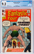 Silver Age (1956-1969):Superhero, Fantastic Four #14 (Marvel, 1963) CGC NM- 9.2 Off-white to white pages....